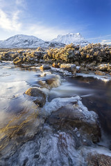 Winter Is Coming (Kathy ~ FineArt-Landscapes) Tags: etive river glencoe rannochmoor scotland snow frozen mountains britain sunlight