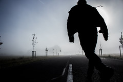 Run (ppaschka) Tags: strasse street run rennen laufen aufderflucht weg flucht mann mensch person lufer landstrasse canon 700d