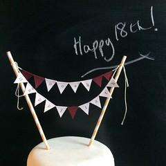 Noah Happy 18th (Emma Bunting) Tags: birthday bunting cake mini emma happy vintage retro straws handmade made britain
