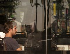 Portrait (Natali Antonovich) Tags: portrait sweetbrussels brussels belgium belgique belgie transport tram profile parallels reflection