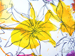 doodle ideas - yellow flowers art (createyourlifechange.com) Tags: orange inspiration black flower art love colors beautiful beauty leaves yellow illustration watercolor design leaf paint artist arte purple artistic crafts arts creative craft style follow doodle marker create draw lovely ideas tutorial doodling techniques followme jourrnal