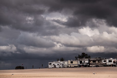 The Approaching Storm (stevef325) Tags: red camp lake storm haven west beach canon coast sand day michigan flag great lakes grand stormy approved rv grounds trailers