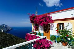 iconic house (Spiros Vathis) Tags: fuji aegean greece velvia gr olympos karpathos flowe egeo olimpos   olymbos scarpanto   aegiansea olimbos vsco    vscofilm
