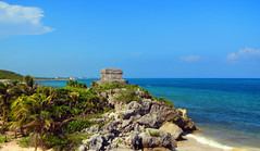 Seaside ruins (A.F.Pretty) Tags: sea summer vacation love de mexico paradise tulum adventure yucatn caribbean peninsula zona roo quintanaroo quintana 2015 arqueologica yucatnpeninsula zonaarqueologicadetulum
