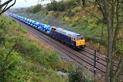 Askham Tunnel (GBRf 66702) Tags: camera york uk england canon wagon eos power diesel loco tunnel east gb locomotive vulcan dslr ac convoy freight nottinghamshire eastcoast wagons midlands retford notts eastcoastmainline 75mph electrification eastmidlands mainline askham gbrailfreight class47 railfreight 100d 25kv 47843 gbrf rhtt railheadtreatmenttrain thralleuropa whitemooryard 6z47 askhamtunnel 6z47yorkthralleuropawhitemooryardldcgbrf ldcgbrf