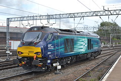 Direct Rail Services 68004 Rapid (Will Swain) Tags: uk travel england west station train coast britain main north transport rail railway trains class line september 2nd crewe railways rapid services direct 68 mainline 2015 drs 68004