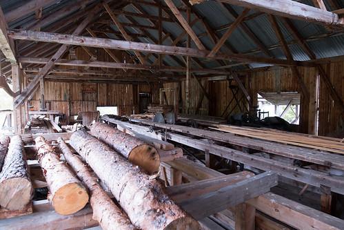 water powered sawmill. water powered sawmill at atnbrua, norway