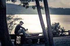 25/30 (Paolo Martinez) Tags: selfportrait blur hat self landscape mood paolo bokeh outdoor emotive paesaggio 135mm 6d peopleenjoyingnature