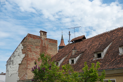Roof and sky. Brasov, Romania ©  Andrey
