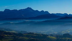 Santis (olijaeger) Tags: travel blue autumn sky mountain mountains nature fog forest landscape schweiz switzerland nebel swiss perspective bluesky aerial berge aerialphotography appenzell luftaufnahmen specland canon5dmarkiii luftaufnahmenbodensee