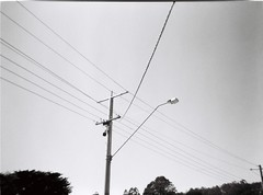 Beautiful power lines in black-and-white (Matthew Paul Argall) Tags: lines 400tx line powerlines powerpole etude