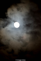 peeping N & out of the clouds (image mine) Tags: moon clouds nite