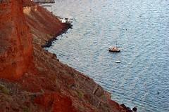 Red (Nagarjun) Tags: blue sunset sun white church island volcano evening europe glow santorini caldera oia cyclades mediterranian firostefani aegeansea