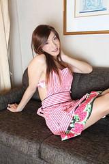 Watermelon apron and pantyhose_7 (Kyoko Matsushita) Tags: stockings fetish asian tv legs cd lingerie crossdressing tgirl transvestite pantyhose crossdresser kyoko  matsushita nylon jambes beine strumpfhose fetisch  collant  ftiche