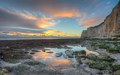 Rockpools Sunset (Phal44) Tags: sunset sky beach water canon reflections sussex seaside 7d mk2 newhaven 1022mm hdr 7d2