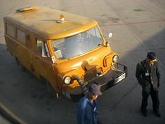 Air starter unit at Pyongyang Airport (Moravius) Tags: 2012 pyongyang dprk
