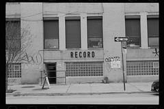 film strip #1 - bushwick (Mattron) Tags: nyc slr film brooklyn analog vintage nikon kodak trix d76 record f3 bushwick oldsign handdeveloped bwdiy