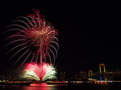 PC180861 (manabu kato) Tags: bridge rainbow fireworks sigma odaiba 19mm yakatabune epm2
