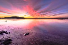 A New Day (Peter Vestin) Tags: nikond7000 tokinaatxpro122840dx siruin3204x siruik30x adobecreativecloudphotography topazlabscompletecollection alstersstrandbad alster karlstad vrmland sweden vnern nature landscape seascape sunrise