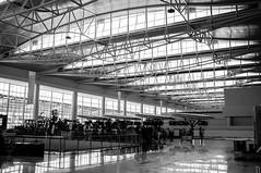 SAMS Airport in BW (okky_prisandi) Tags: airport bw hitamputih balikpapan eastborneo borneo kalimantan timur indonesia grayscale 23mm film