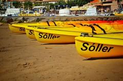 Colourful Kayaks. Port de Soller, Mallorca. September 2016. (Jen_wilsonphotography) Tags: nikon roadtrip holiday travel beach sun water kayak mallorca serradetramuntana portdesoller