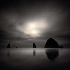From Within (C A Soukup) Tags: blackandwhite cannonbeach darkimagery haystackrock longexposure oregon oregoncoast