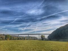 Herbst Wetter (Blende2,8) Tags: wolken himmel wald bume wiese nekartal brcke