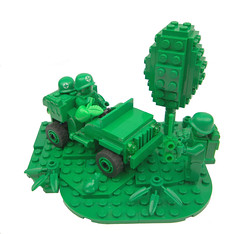 Everythings Gone Green (MinifigNick) Tags: green army lego afol moc minifignick toystory