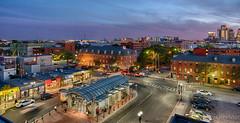 East Boston - Maverick Square (NikonJim) Tags: nikonjim d750 nikon night dusk boston eastboston skyline hdr nik mbta maverick station subway bus