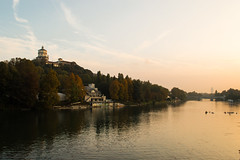 DSC_097 (Mjooolka) Tags: turin piedmont italy sunset romantic river posky ciel tramonto trees park water foliage architecture bridge castle boats girl people reflection branche castellodelvalentino valentino garden clouds grass colorful leaves windows parapets monastery october autumn afternoon evening spazieren wanderlust