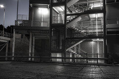 Next Steps (georgehuthart) Tags: eos5d canon nightshooters urban lowlight carpark huthart44 night photography nightphotography darkness nightphotographer industry
