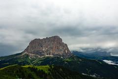 Val Gardena - Sassolungo from Dantercepies (vincos) Tags: valgardena landscape mountains dolomiti dolomites clouds sky italy dantercepies sassolungo