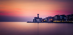 Sunset over Piran (David Kutschke) Tags: sunset sonnenuntergang water wasser piran slovenia slowenien clouds wolken