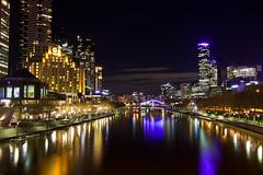 Melbourne at Night (joscelyn_p) Tags: melbourne australia longexposure longexpo night dark urban city downtown cityscape nightscape yarrariver river lights smooth canon lightroom