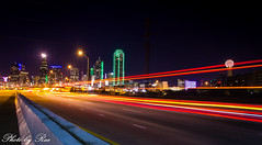 Dallas skyline (ruijuanwang2) Tags: dallas cityskyline skyline night motion