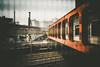 2016181 (gwagwa) Tags: red train rail bridge tokyo japan 35mm art sigma f14 street