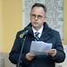 Bús Balázs, Óbuda kereszténydemokrata polgármestere mond ünnepi beszédet