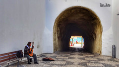 Guitarist, Tunnel, Albufeira, Portugal - 4678 (HereIsTom) Tags: webshots travel europe netherlands holland dutch view nederland views you sony cybershot hx9v nature sun tourists cycle vakantie fietsvakantie cycling holiday bike bicycle fietsen tunnel street city do town gitaar tnel shopping muziek albufeira algarve praia gitarist portugal beach music village walk sea zon zee strand