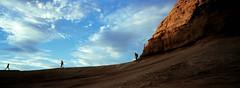Arches National Park, UT. August 2015 (kenrola) Tags: hasselblad xpan hasselbladxpan 35mm film kodak ektar ektar100 kodakektar kodakektar100 fujitx1 filmphotography moab utah southernutah arches national park archesnationalpark hardlight softlight shadows redrock silhouette panorama sunset vista desert outdoor clouds sky landscape hiking kodakfilm