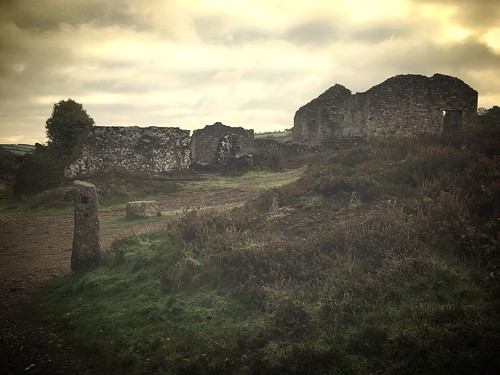 Old mine workings St Day Cornwall