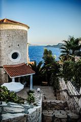 The villa (Melissa Maples) Tags: ka turkey trkiye asia  nikon d5100   nikkor afs 18200mm f3556g 18200mmf3556g vr mediterranean sea water animal kitty cat home house staircase steps stairs villa ka trkiye