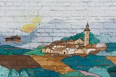 Murals pre GarGarFestival, a Penelles (Ramon Orom Farr [calBenido]) Tags: penelles lanoguera mur wall paret dibuix dibujo draw mural pintura art arte artist infantil colors colores colours painting planadurgell planadelleida lleida provnciadelleida catalua catalonia catalogne europe europa pasoscatalans decay decaigut decaido catalunya espaa es style nikon d7100 tamron textura texture pelscarrers poble pueblo town paisatge paisaje