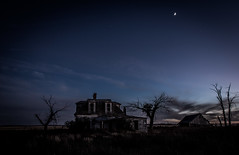 (Rodney Harvey) Tags: abandoned house new mexico night moon spooky eerie scary long exposure