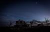 (Rodney Harvey) Tags: abandoned house new mexico night moon spooky eerie scary long exposure