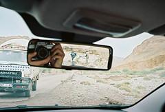 Work in progress (louis de champs) Tags: minoltasrt101 mdwrokkor35mm28 film kodak portra160 morocco r106 road roadtrip rearviewmirror camera workinprogress roadworks