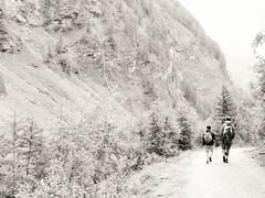Returning home (katrienberckmoes) Tags: returning home father son after walk alps rauris austria blackandwhite landscape