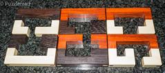 Tricolore Pieces (kevinmsadler) Tags: burr puzzle