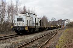 ProLok 203 007 met containerwagens op havenlijn Emmerich (sanfranjake) Tags: emmerich emmerichamrhein trein goederentrein duitsland v100 203007 oakcapital prolok