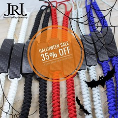 35% off Halloween Sale. From now til Nov 2, 2016. No coupon code needed!! #jenniferrayjewelry #jrj #jrjcarbon #carbonfiber #carbonfibre #halloween #sale #handcrafted #edc #mensgear #menswear #mensfashion #mensfashionpost #fashion #unstagram #wristgame #pe (JenniferRay.com) Tags: instagram carbon fiber jewelry exclusive jrj jennifer ray paracord custom