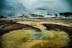 Sulfur Caldron (Yellowstone) (Toffographer 974) Tags: yellowstone travelphoto roadtrip park nationalpark colors grey weather sky rain